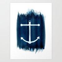 anchor Art Prints featuring Anchor by Bridget Davidson