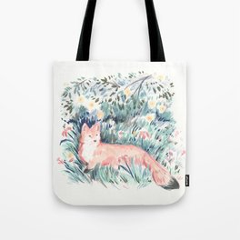 Fox in the Meadow Tote Bag