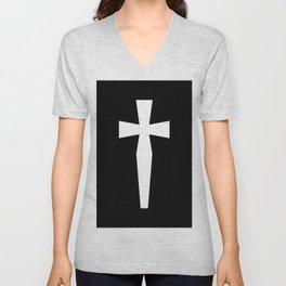 Dagger (White & Black) Unisex V-Neck
