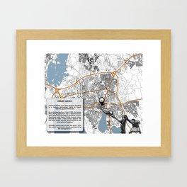 Atlas of Inspiring Protests; VÄXJO Framed Art Print