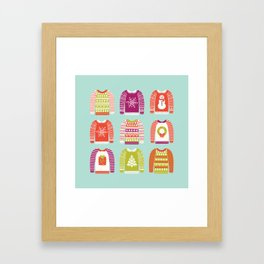 Ugly Christmas Sweaters Framed Art Print