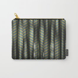 Alien Columns - Blue and Gold Carry-All Pouch