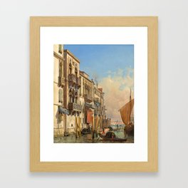 Friedrich Christian Nerly (1807 Erfurt – 1878 Venedig) View from the Grand Canal on to the Canale di Framed Art Print