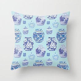 Chinoiserie Ginger Jar Collection No.3 Throw Pillow