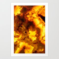 Back lit Marble abstract Art Print