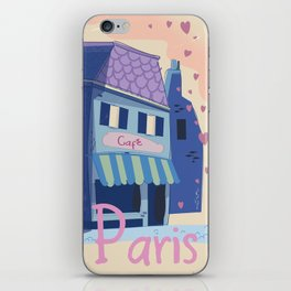 The little Parisian Cafe. iPhone Skin