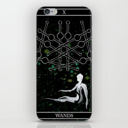 A Tarot of Ink 10 of Wands iPhone Skin