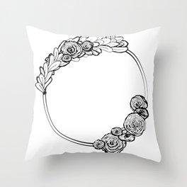 Modern Wreath Throw Pillow