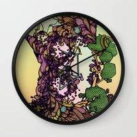 cycle Wall Clocks featuring Cycle by Anders Teigene
