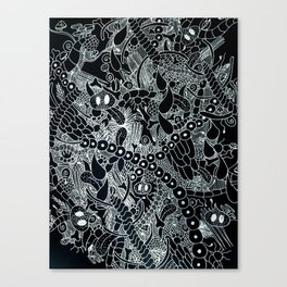 Wild Things Black and White Canvas Print