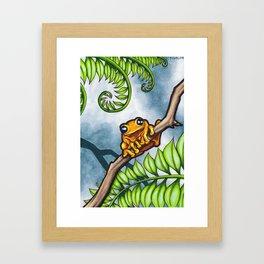 One Happy Frog Framed Art Print