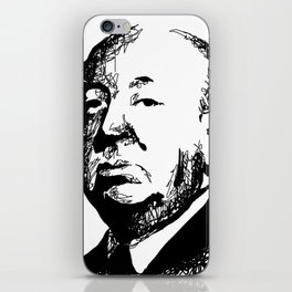 Alfred Hitchcock by burro iPhone Skin