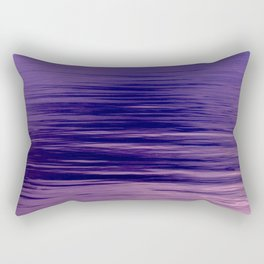 Movement of Water on a Calm Evening- Violet Abstraction Rectangular Pillow
