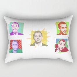The Many Faces Of Joe Rectangular Pillow