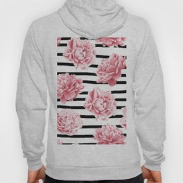 Simply Drawn Stripes and Roses Hoody