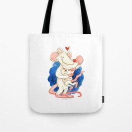 Pinky and the Brain Hug! Tote Bag