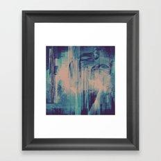 slow glitch Framed Art Print
