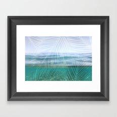 Palms over water  Framed Art Print