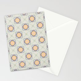 New Beginnings Flower Print Seamless Pattern Stationery Cards