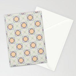 New Beginnings Flower Print Seamless Pattern Stationery Cards