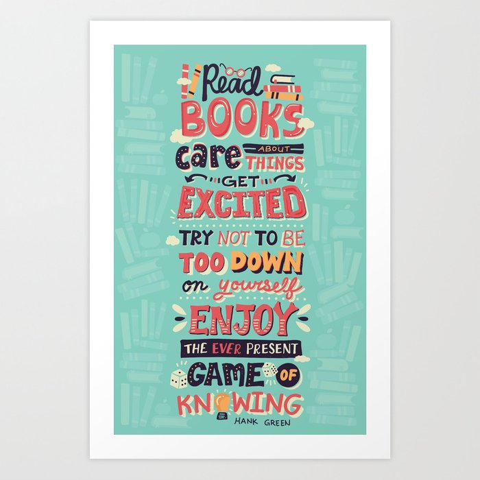 Read Books Art Print