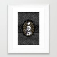 literary Framed Art Prints featuring Literary girl - La littéraire by Andi Lee artworks