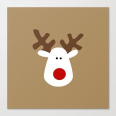 Christmas Reindeer-Brown Canvas Print