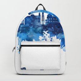 Port-Au-Prince Haiti Skyline Blue Backpack