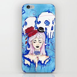 """Red string """"destined"""" iPhone Skin"""