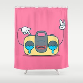 Nostalgic Stereo Shower Curtain
