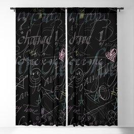 On the blackboard Blackout Curtain