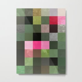 Pink Roses in Anzures 5  Abstract Rectangles 3 Metal Print