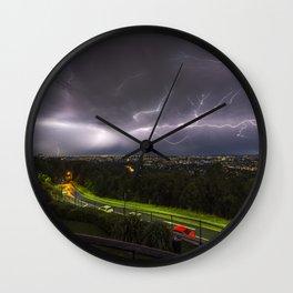 Summer Storm Over Brisbane Wall Clock