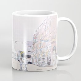 Venice Beach Mosaic Pen and Ink - Faded Rose Coffee Mug