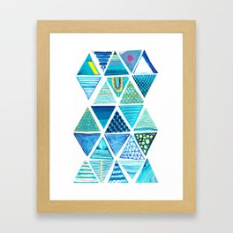 Triangle Study in Blue Framed Art Print