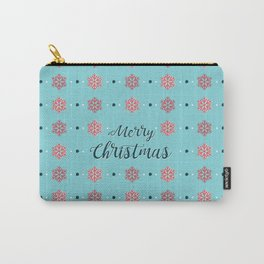 Merry Christmas BLUE Carry-All Pouch