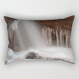 Stream of Frozen Hope Rectangular Pillow