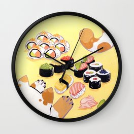 Sushi+cats=yes Wall Clock