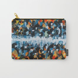 Fire and Ice Abstract Painting- Warm and Cool Colors Carry-All Pouch