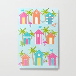 Tropical Cabanas Metal Print