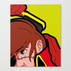 The secret life of heroes - Harlock Hair Canvas Print