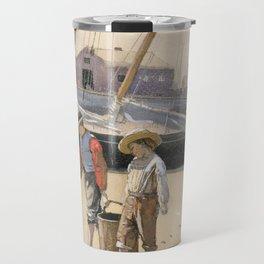 A Basket of Clams Winslow Homer 1873 Travel Mug