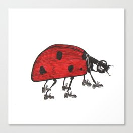 Ladybug Wearing Tap Shoes Gotta Dance Canvas Print