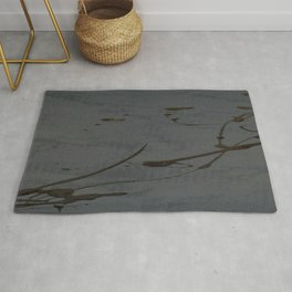 Black And Gray Abstract Jackson Pollock Inspired Study In Black - Gothic Glam - Corbin Henry Rug