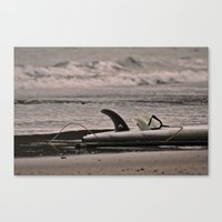 surfboard Canvas Prints featuring Surfboard 1 by Becky Dix