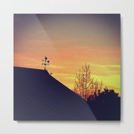 Weathervane Metal Print