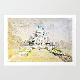Sacré-Cœur de Montmartre, Basilica of the sacred Heart, Paris Art Print