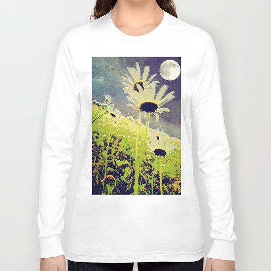 As the Daisies Greet the Evening Sky Long Sleeve T-shirt