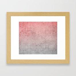 Oriental ornament pattern Rose Quartz Framed Art Print