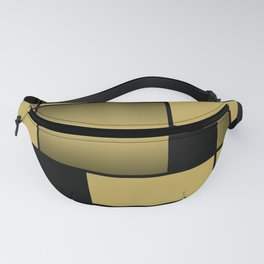 Mondrian Neoplastic Gold Art Fanny Pack
